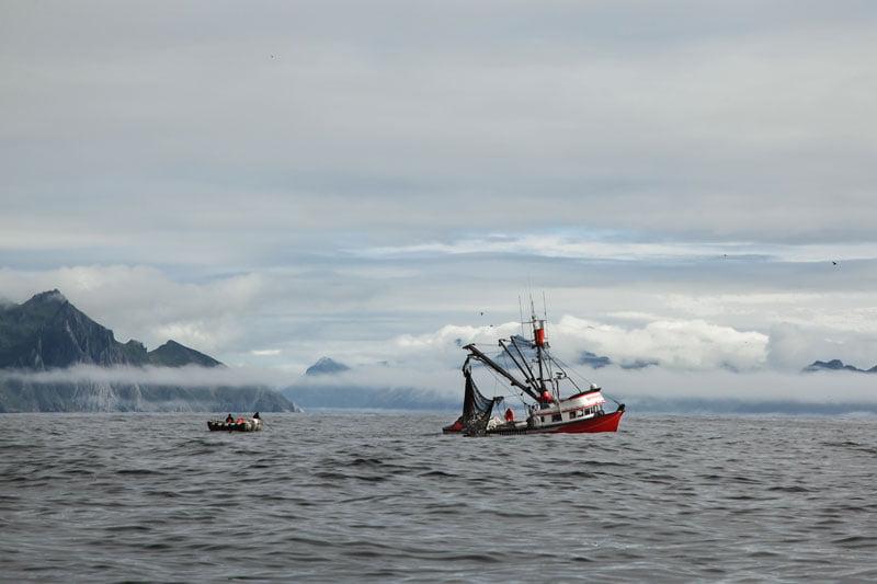Paisagem de pesca Alaska Seafood