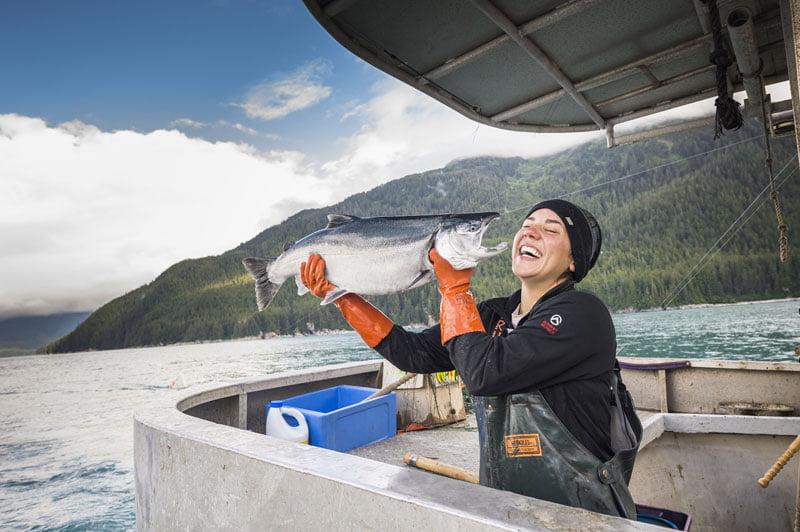 Pesca sustentável Alaska seafood